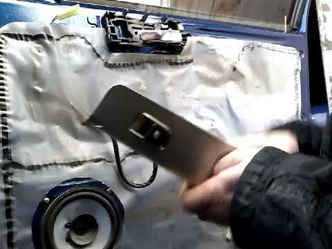 Как снять извлечь заменить стекло передней двери GEELY CK (2010)demontaz Zamiana Szyby Drzwi Przod!