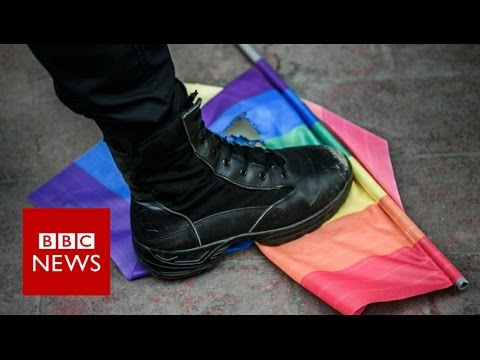 Merkel presses Putin on gay rights - BBC News