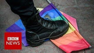 Merkel presses Putin on gay rights   BBC News