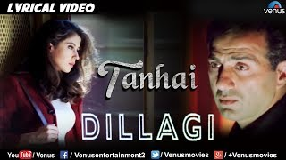 Download Video Tanhai- Saaya Bhi Saath - LYRICAL VIDEO| Dillagi | Sunny Deol & Urmila Matondkar |Bollywood Sad Song MP3 3GP MP4