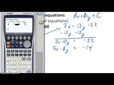 Solving Simultaneous Equations Using Casio Fx-9860