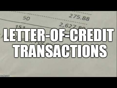 Transactions with letters of credit