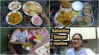 My Saturday dinner routine || preparing Dinner for guest || Indian housewife dinner routine 2018.