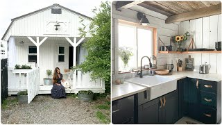Shed to Tiny Farmhouse // Tiny Farmhouse Home Tour
