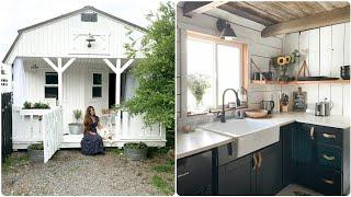 Shed To Tiny Farmhouse // Tiny Farmhouse Home Tour