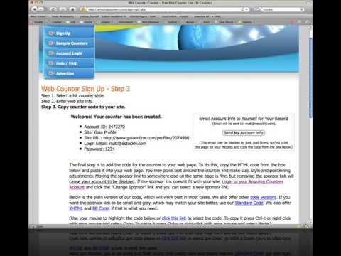 Gaia Online Profile Tutorial - YouTube