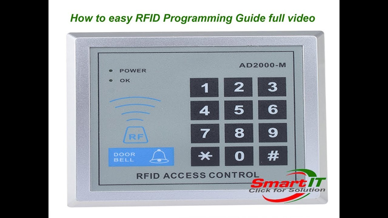How To Easy Rfid Programming Guide Full Video Youtube