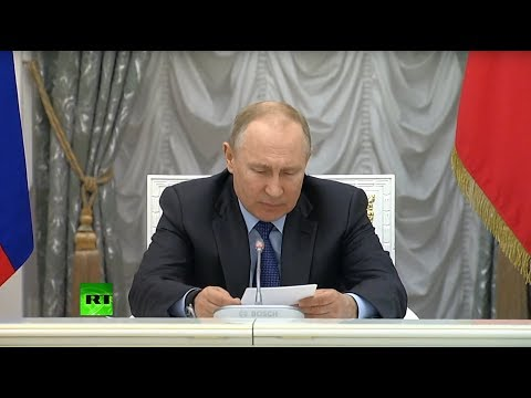 Путин проводит заседание Совета по стратегическому развитию и национальным проектам