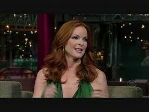 Marcia Cross on David Letterman