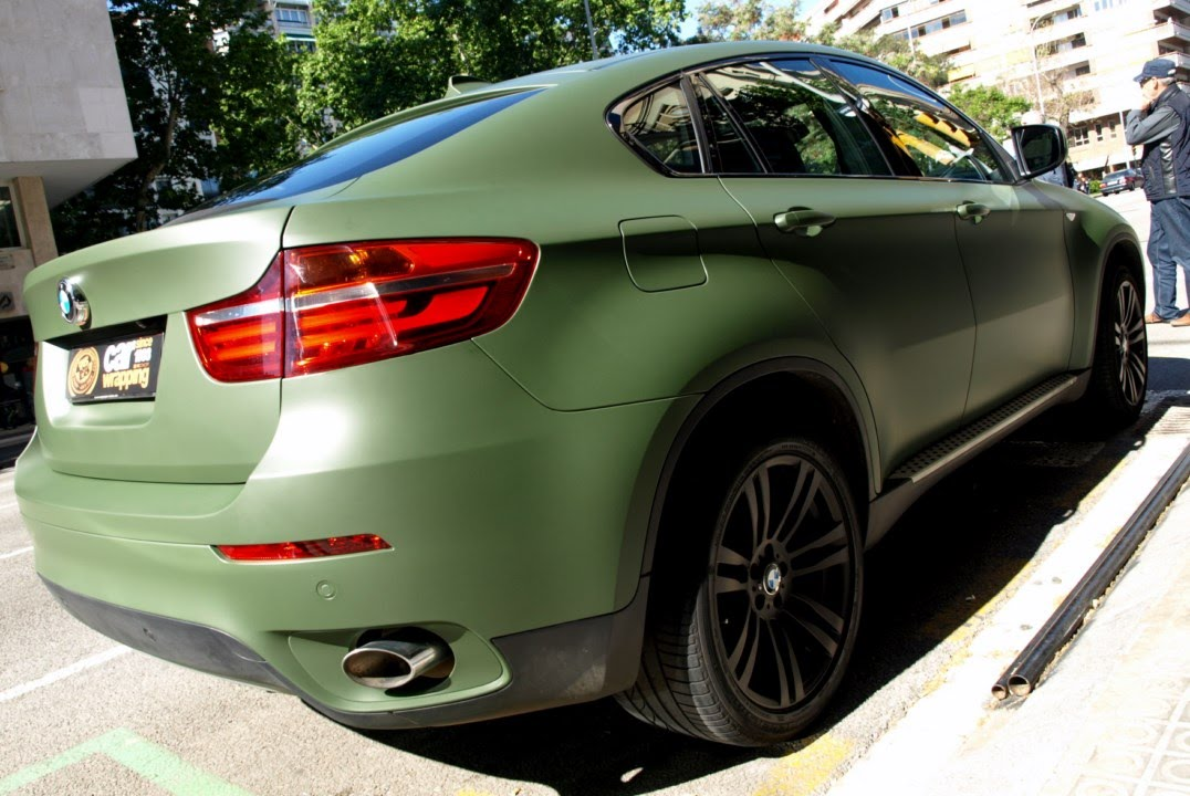 Bmw X6 En Verde Militar Mate Y Detalles En Negro Mate Car Wrapping By Pronto Rotulo Youtube