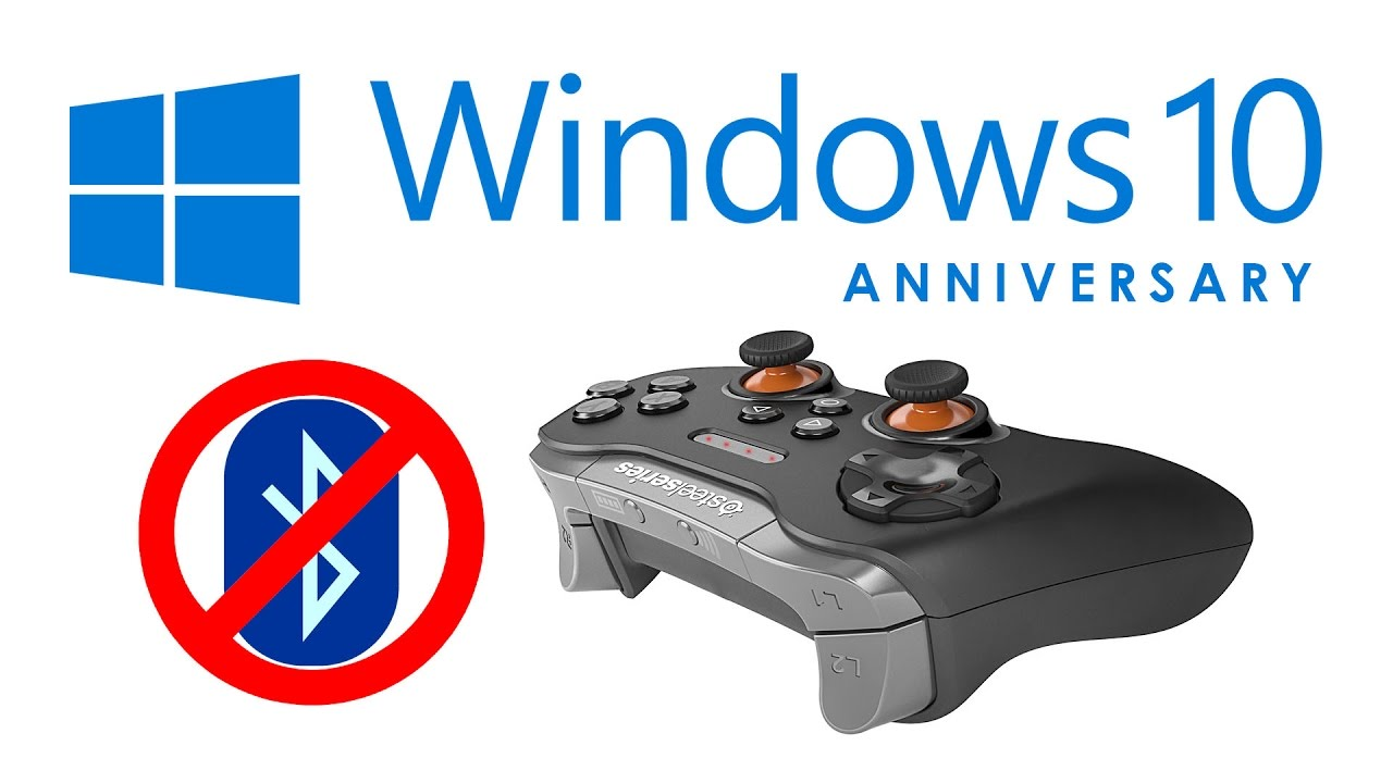 Problems with Bluetooth Gaming Controllers on Windows 10 Anniversary & Steam