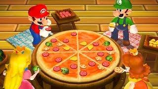 Mario Party 9 - Minigames - Mario vs Luigi vs Yoshi vs Toad