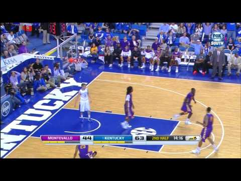 James Young Scores for the Wrong Team on a Behind-the-Back Throw - Montevallo vs. #1 UK - 11/4/2013
