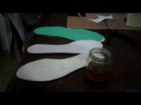 como forrar plantillas para sandalia macrame 1