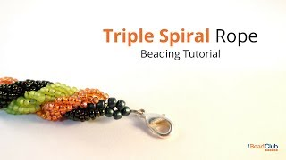 Triple Spiral Rope Stitch Beading Tutorial