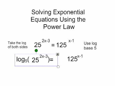 Using the Power Law to Solve an Exponential Equation