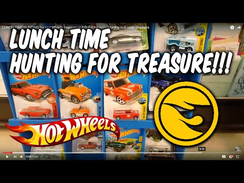 LUNCH TIME HUNTING for Hot Wheels treasure at Ralphs! treasure hunting D case Shippers July 29, 2016
