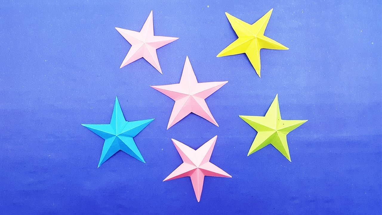 3D Modular Origami Star (EASY TUTORIAL) I ARTist Diana - YouTube | 720x1280