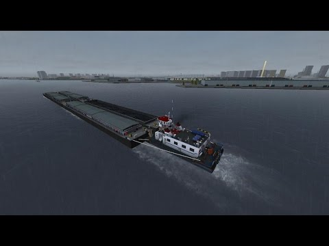 Ship Simulator 2008 Add-On: New Horizons Gameplay. Mission: Barges transport in Rotterdam harbor