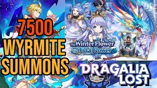 Dragalia Lost - 7500 Wyrmite Summons (The Winter Flower and the Tidal Power)