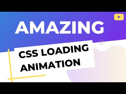 Amazing loading animation using HTML and CSS | Pure CSS tutorial thumbnail