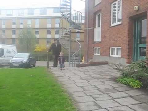 Dagmar plays outside