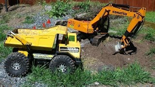 RC ADVENTURES - Radio Controlled Tonka Truck & Earth Digger 4200XL Excavator