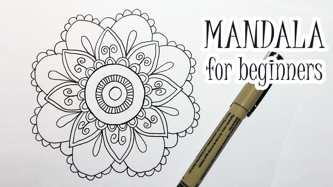 How to Draw a Flower Mandala for Beginners Step by Step (Easy)