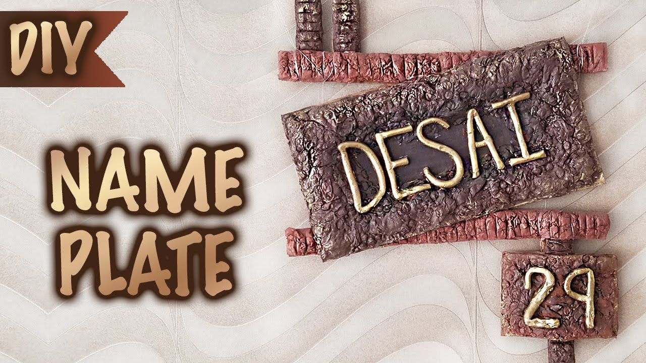 Decorative Name Plates For Home: DIY Hand Made Paper Mache