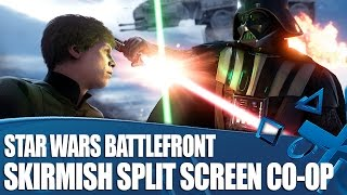 Star Wars Battlefront - Offline Skirmish Co-op Gameplay