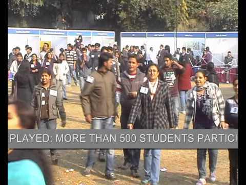 TAXILA BUSINESS SCHOOL JAIPUR, BUSINESS GAME PLAYED BY 500 STUDENTS TOGETHER