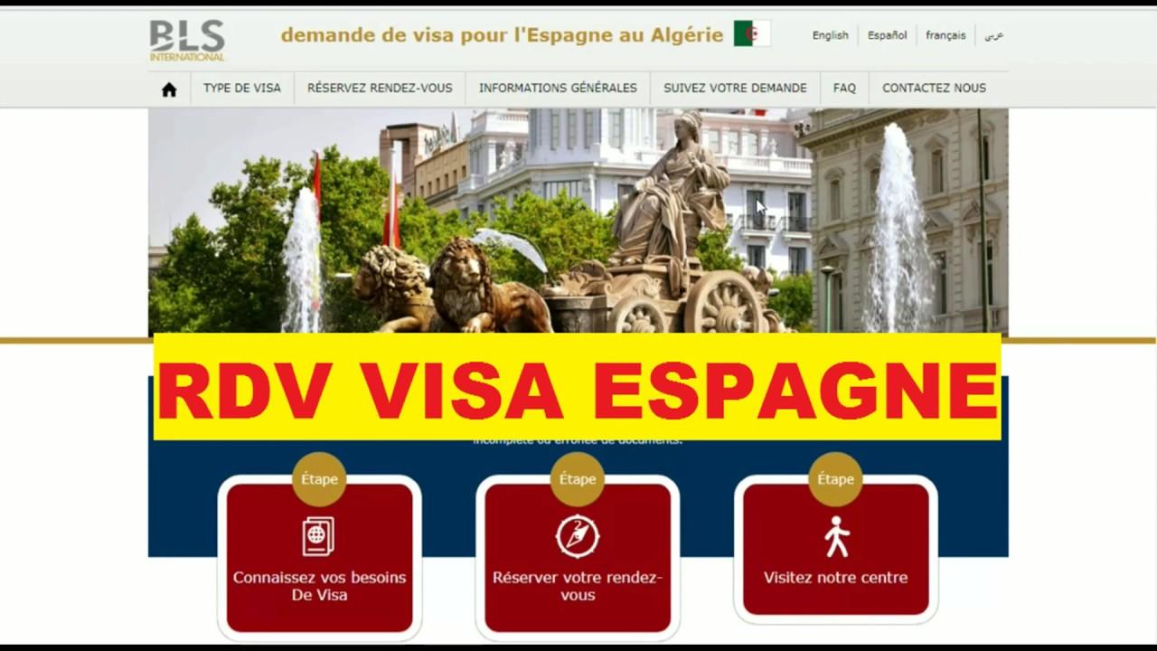 formulaire visa espagne algerie bls