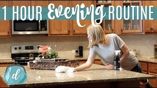 ORGANIZED 1-HOUR EVENING ROUTINE ❤️ Realistic Cleaning & Mommy Motivation