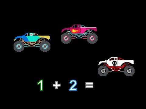 Vehicle Math – Addition 1 – With Cars & Trucks – The Kids' Picture Show (Learning Video)