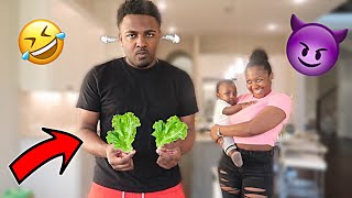 CONTROLLING WHAT MY BOYFRIEND EATS FOR 24 HOURS!! - CHALLENGE