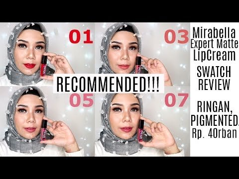 mirabella-expert-matte-lipcream-review-&-swatches-|-lipstick-lokal-indonesia-(bahasa)