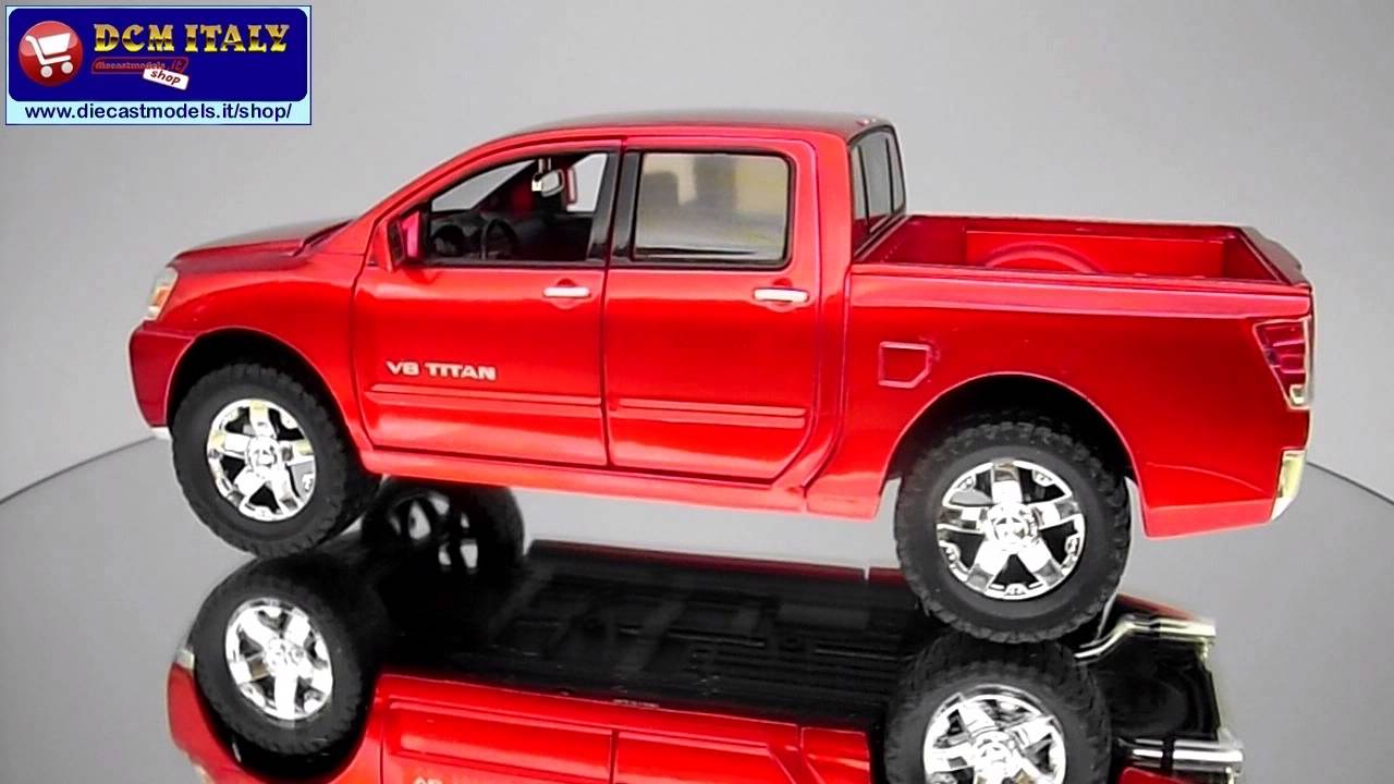 Lifted Nissan Titan >> Nissan Titan V8 (2006) - Jada Toys - 1:24 - YouTube