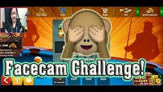 8 Ball Pool- FACECAM CHALLENGE FOR THE FIRST TIME EVER!!!