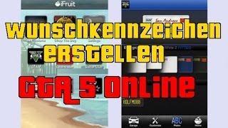 GTA 5 Online: Wunschkennzeichen erstellen | iFruit APP | Deutsch | Tutorial | von Eisen Gaming
