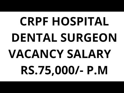 CRPF Recruitment 2019 | Dental Surgeon Bharti | Walk In Interview  | #Latest Govt Job 2019