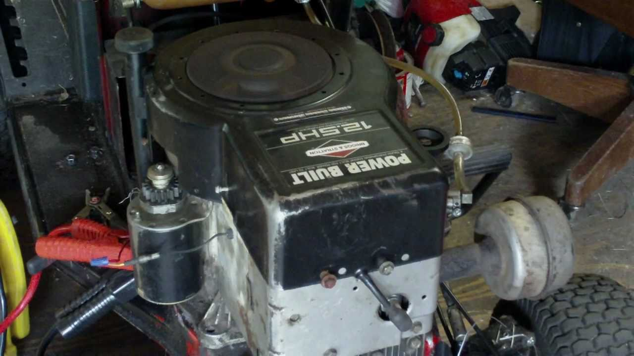 new engine 12 5 hp horsepower briggs and stratton power built engine youtube [ 1280 x 720 Pixel ]