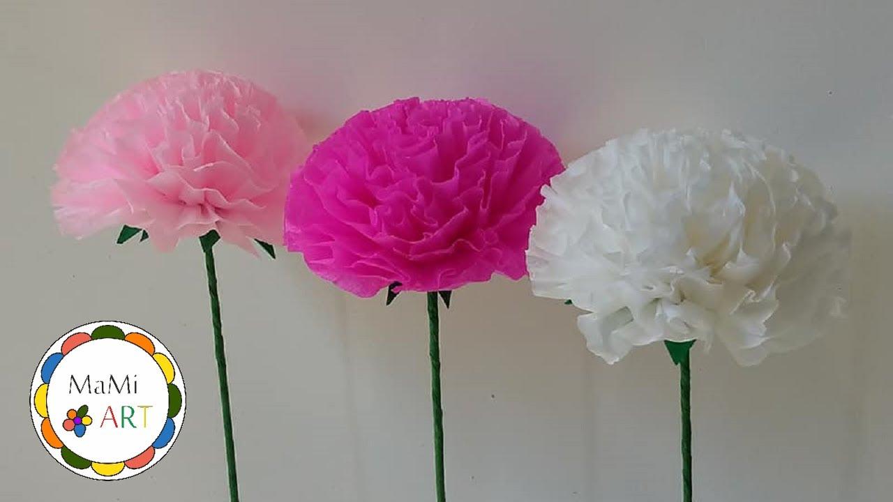 Jak Szybko I Prosto Zrobic Kwiaty Z Bibuly Youtube
