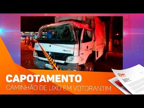 Capotamento caminhão de lixo em Votorantim - TV SOROCABA/SBT