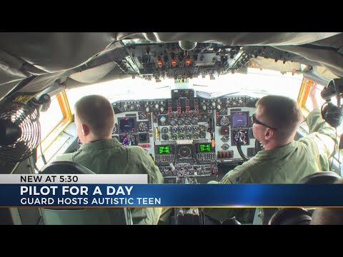 Teen with autism gets to be a National Guard pilot for a day