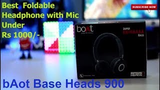 boAt Bass Heads 900 Wired Headphone with Mic,boAt Unboxing Sound Test