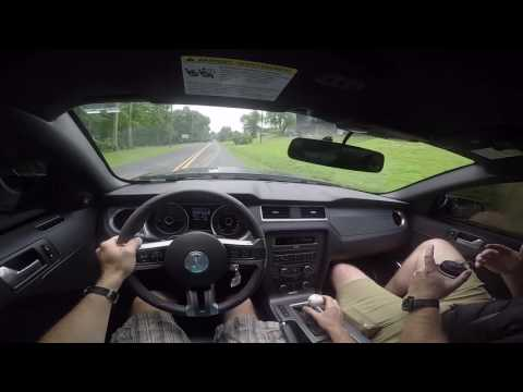 Driving a Shelby GT500 for the first time.