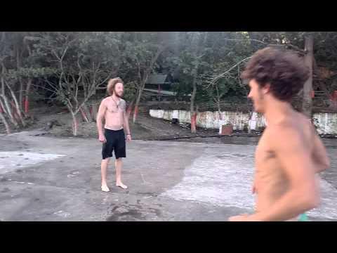 Swimming in San Andres Peten