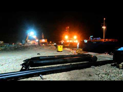 Van Oord en Snijder bouwen een Breakwater in Constanta Roemenie