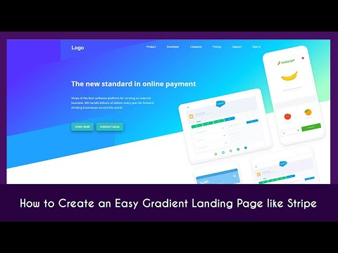 How To Create An Easy Gradient Landing Page Like Stripe Using HTML & CSS