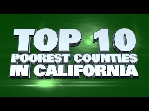 Top 10 Poorest Counties in California 2014
